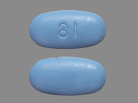 Round Small Blue Pill With 81 Or 18 Medschat