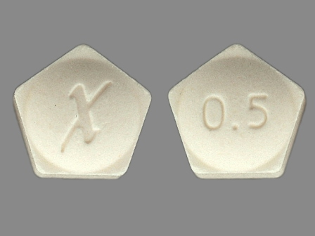 X 0 5: (0009-0057) 24 Hr Xanax 0.5 mg Extended Release Tablet by Pharmacia and Upjohn Company