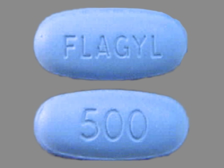 FLAGYL 500: (0025-1821) Flagyl 500 mg Oral Tablet by G.d. Searle LLC Division of Pfizer Inc