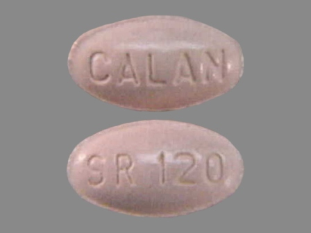 CALAN SR 120: (0025-1901) 24 Hr Calan 120 mg Extended Release Tablet by G.d. Searle LLC Division of Pfizer Inc