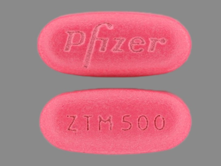 PFIZER ZTM500: (0069-3070) Zithromax 500 mg Oral Tablet, Film Coated by Remedyrepack Inc.