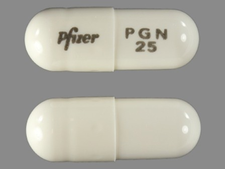 Pfizer PGN 25: (0071-1012) Lyrica 25 mg Oral Capsule by Lake Erie Medical & Surgical Supply Dba Quality Care Products LLC