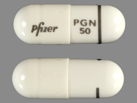 Pfizer PGN 50: (0071-1013) Lyrica 50 mg Oral Capsule by Parke-davis Div of Pfizer Inc