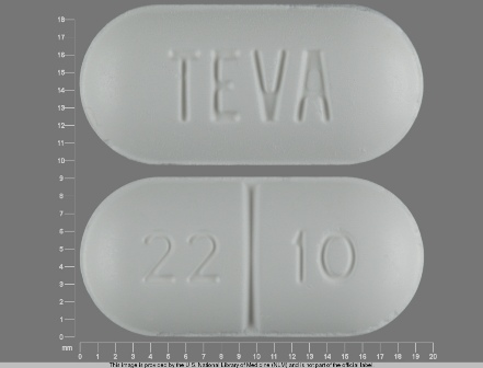 TEVA 22 10: (0093-2210) Sucralfate 1 g/1 Oral Tablet by Medsource Pharmaceuticals