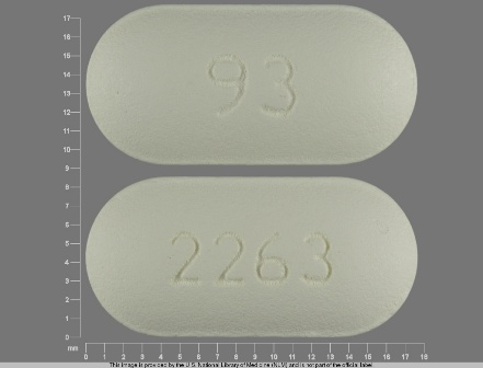 93 2263: (0093-2263) Amoxicillin 500 mg Oral Tablet by Teva Pharmaceuticals USA Inc