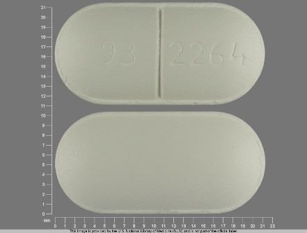 93 2264: (0093-2264) Amoxicillin (As Amoxicillin Trihydrate) 875 mg Oral Tablet by Teva Pharmaceuticals USA Inc