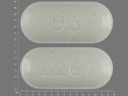 93 2267: (0093-2267) Amoxicillin 125 mg Chewable Tablet by Teva Pharmaceuticals USA Inc
