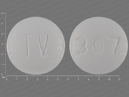 TV 307: (0093-5060) Hydroxyzine Hydrochloride 10 mg Oral Tablet by Teva Pharmaceuticals USA Inc