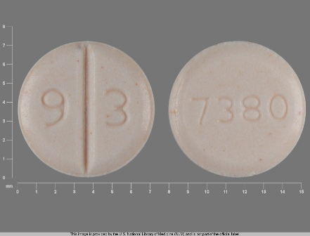 9 3 7380: (0093-7380) Venlafaxine 37.5 mg (As Venlafaxine Hydrochloride 42.5 mg) Oral Tablet by Teva Pharmaceuticals USA Inc