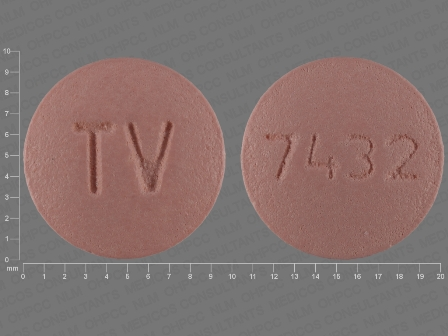 7432 TV: (0093-7432) Valsartan 80 mg Oral Tablet, Film Coated by Teva Pharmaceuticals USA Inc