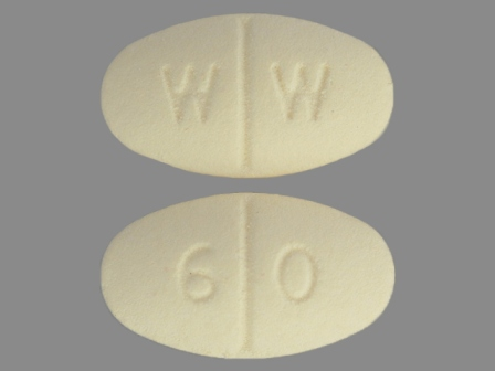 WW 60: (0143-2260) Isosorbide Mononitrate 60 mg 24 Hr Extended Release Tablet by Ncs Healthcare of Ky, Inc Dba Vangard Labs