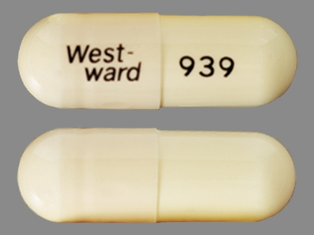 West-ward 939: (0143-9939) Amoxicillin 500 mg Oral Capsule by West-ward Pharmaceutical Corp