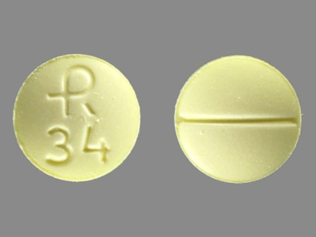 R 34: (0228-3004) Clonazepam 1 mg Oral Tablet by Actavis Elizabeth LLC