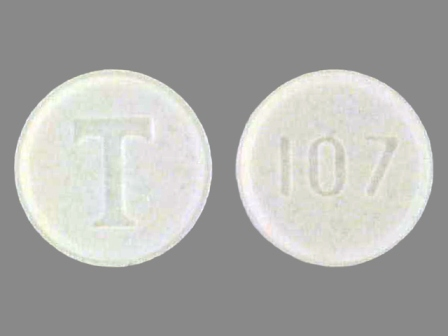 T 107: (0310-0107) Tenormin 25 mg Oral Tablet by Almatica Pharma Inc.