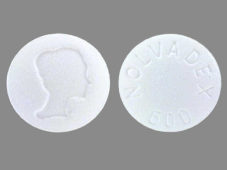 NOLVADEX 600: (0310-0600) Nolvadex 10 mg (Tamoxifen Citrate 15.2 mg) Oral Tablet by Astrazeneca Pharmaceuticals Lp