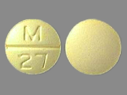 M 27: (0378-0027) Clorpres (Chlorthalidone 15 mg / Clonidine Hydrochloride 0.2 mg) Oral Tablet by Mylan Pharmaceuticals Inc.