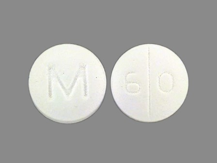 6 0 M: (0378-0060) Maprotiline Hydrochloride 25 mg Oral Tablet by Mylan Pharmaceuticals Inc.