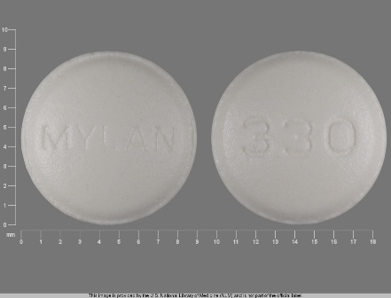MYLAN 330: (0378-0330) Amitriptyline Hydrochloride 10 mg / Perphenazine 2 mg Oral Tablet by Mylan Pharmaceuticals Inc.