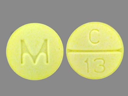 M C 13: (0378-1910) Clonazepam 0.5 mg Oral Tablet by Mylan Pharmaceuticals Inc.
