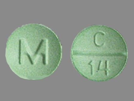 M C 14: (0378-1912) Clonazepam 1 mg Oral Tablet by Mylan Pharmaceuticals Inc.