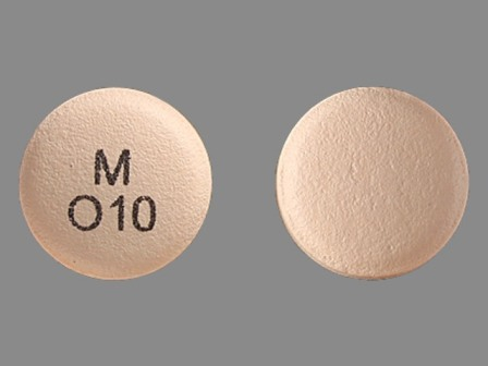 M O 10: (0378-6610) Oxybutynin Chloride 10 mg 24 Hr Extended Release Tablet by Mylan Pharmaceuticals Inc.