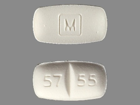 57 55 M: (0406-5755) Methadone Hydrochloride 5 mg Oral Tablet by Blenheim Pharmacal, Inc.
