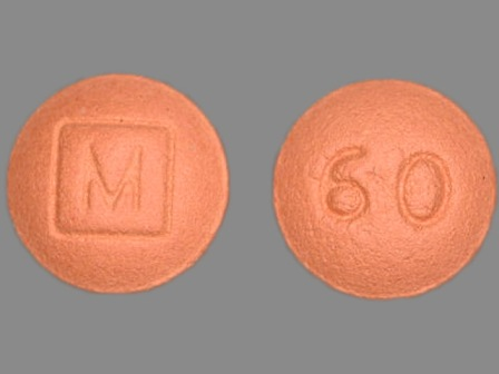 M 60: (0406-8380) Ms 60 mg Extended Release Tablet by Mallinckrodt, Inc.
