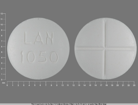 LAN 1050: (0527-1050) Acetazolamide 250 mg Oral Tablet by Marlex Pharmaceuticals Inc