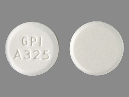 GPIA325: (0536-3222) Apap 325 mg Oral Tablet by Cardinal Health
