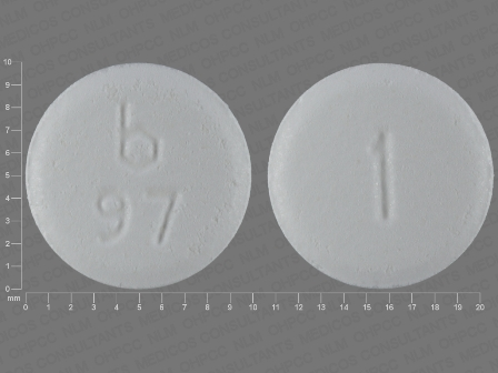 b 97 1: (0555-0097) Clonazepam 1 mg Disintegrating Tablet by Barr Laboratories Inc.
