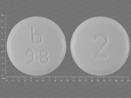 b 98 2: (0555-0098) Clonazepam 2 mg Disintegrating Tablet by Barr Laboratories Inc.