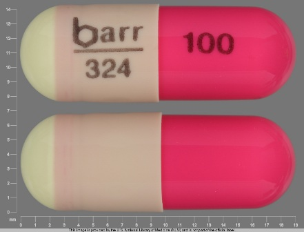 barr 324 100: (0555-0324) Hydroxyzine Hydrochloride 100 mg (Hydroxyzine Pamoate 170.4 mg) Oral Capsule by Barr Laboratories Inc.