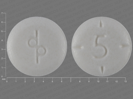 5 dp: (0555-0762) Adderall Oral Tablet by Teva Select Brands