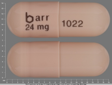 barr 24 mg 1022: (0555-1022) Galantamine Hydrobromide 24 mg 24 Hr Extended Release Capsule by Barr Laboratories Inc.