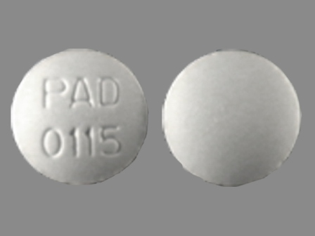 PAD 0115: (0574-0115) Flavoxate Hydrochloride 100 mg Oral Tablet by Paddock Laboratories, Inc.