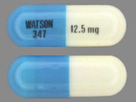 WATSON 347 and 12 5 mg: (0591-0347) Hctz 12.5 mg Oral Capsule by Ncs Healthcare of Ky, Inc Dba Vangard Labs