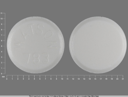Watson 783: (0591-0783) Diethylpropion Hcl Immediate-release 25 mg Oral Tablet by A-s Medication Solutions LLC