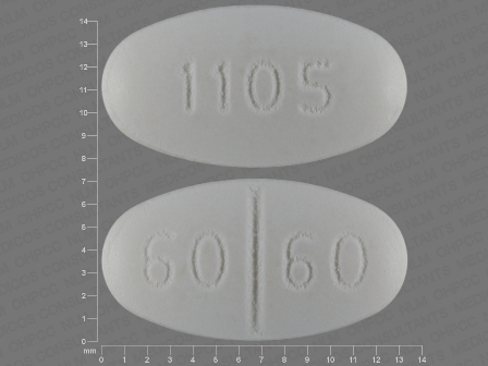 60 60 1105: (13668-105) Isosorbide Mononitrate 60 mg 24 Hr Extended Release Tablet by Ncs Healthcare of Ky, Inc Dba Vangard Labs