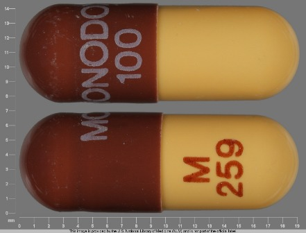 MONODOX 100 M 259: (16110-259) Monodox 100 mg Oral Capsule by Aqua Pharmaceuticals, LLC