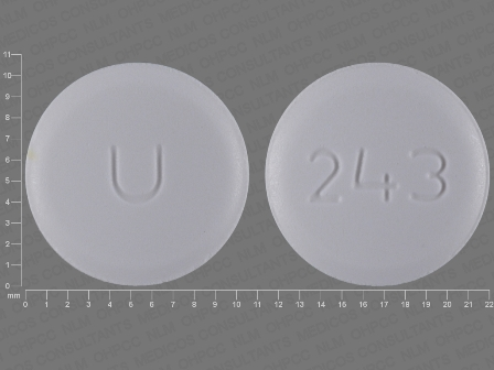 U 243: (29300-243) Amlodipine Besylate 10 mg Oral Tablet by Proficient Rx Lp