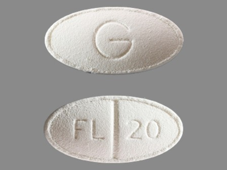 FL 20 G: (42291-279) Fluoxetine 20 mg/1 Oral Tablet, Film Coated by Mylan Pharmaceuticals Inc.