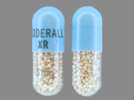 ADDERALL XR 5 mg: (54092-381) Adderall XR 5 mg 24 Hr Extended Release Capsule by Shire Us Manufacturing Inc.