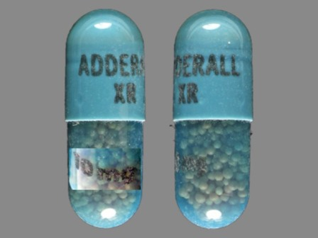 ADDERALL XR 10 mg: (54092-383) Adderall XR 10 mg 24 Hr Extended Release Capsule by Physicians Total Care, Inc.