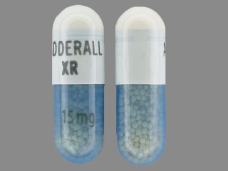 ADDERALL XR 15 mg: (54092-385) Adderall XR 15 mg 24 Hr Extended Release Capsule by Shire Us Manufacturing Inc.