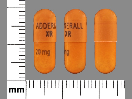 ADDERALL XR 20 mg: (54092-387) Adderall XR 20 mg 24 Hr Extended Release Capsule by Shire Us Manufacturing Inc.