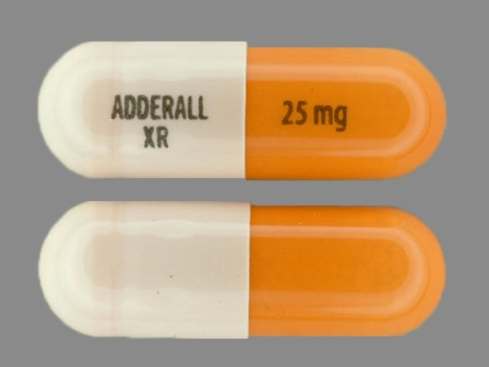 ADDERALL XR 25 mg: (54092-389) Adderall XR 25 mg 24 Hr Extended Release Capsule by Physicians Total Care, Inc.