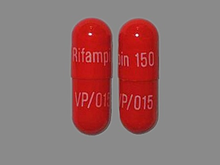 Rifampin 150 VP 015: (61748-015) Rifampin 150 mg Oral Capsule by Versapharm Incorporated