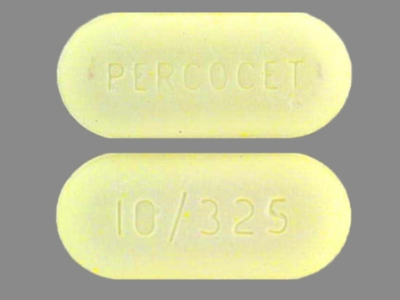 PERCOCET 10 325: (63481-629) Percocet 10/325 Oral Tablet by Endo Pharmaceuticals