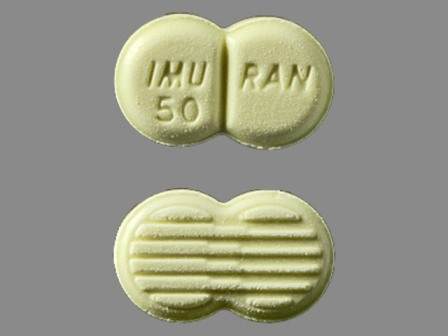 IMURAN 50: (65483-590) Imuran 50 mg Oral Tablet by Prometheus Laboratories Inc.