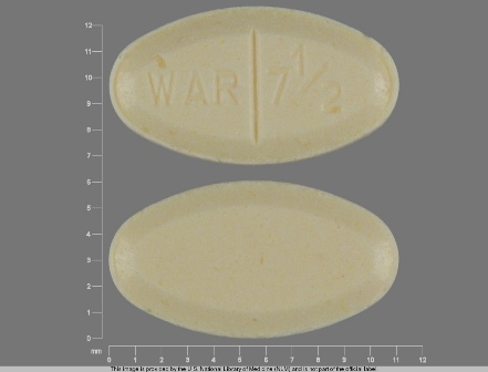 WAR 7 1 2: (68382-058) Warfarin Sodium 7.5 mg Oral Tablet by Physicians Total Care, Inc.